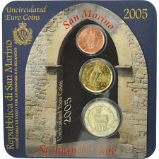 [#507260] San Marino, Set, 2 cents, 20 cents, 2 euro, 2005, St. Francis' Gate
