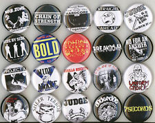 20 x HARDCORE buttons NEW pin badge judge bold gorilla biscuits warzone NYHC sch