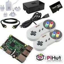 Raspberry Pi 3 16GB Retro-videospiel Bündel mit 2 SNES Stil Controller