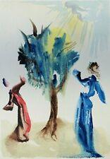 Dali Salvador: Purgatorio 24 - Wood Engraved Original Signed #Divine Comedy