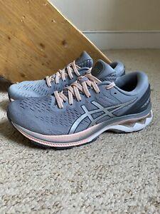 Women's ASICS Gel Kayano 27 Trainers/Shoes Grey/Pink UK Sz. 6.5