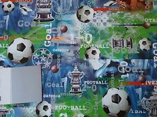 FOOTBALL GIFT Wrapping Paper and Tag  Good Quality Glossy Brand New
