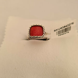 Beautiful Coral Ring in handcrafted Sterling Silver