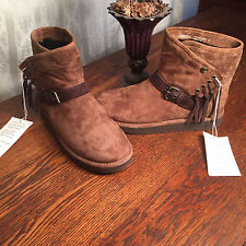 UGG Karisa Buckle Fringe Shearling Boot Size 7 New Without Box