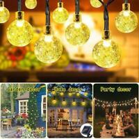 Solar Powered 50 LED String Light Garden Path Yard Decor Lamp  Waterproof