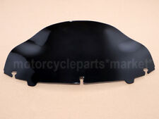 """Black 8"""" Wave Windshield Windscreen Fit For Harley Touring FLHT FLHX 2014-2018"""