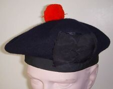 Old Scottish Balmoral Cap Ready for Your Clan Badge! Size 7