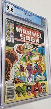 Marvel Saga # 17 CGC 9.6 1987  Wrap Around Cover Fantastic Thing XMen Vintage