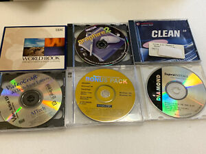lot of PC CD-ROM programs Norton, Steinberg clean, Graphire 2
