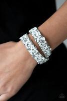 Paparazzi Jewelry Bracelet ~ CRUSH To Conclusions - White - 3457