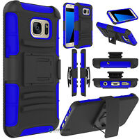 Samsung Galaxy S7 Holster Combo Belt Clip Cell Phone Case With Kick Stand Cover