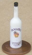 SCALA 1:12 bottiglia di vetro con un'etichetta Malibu tumdee bevanda in miniatura casa delle bambole