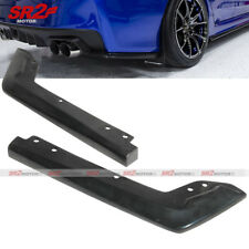 Rear Body PU Bumper Lip Kit Add-on Apron Cap Spoiler fits 15-17 Subaru WRX STI