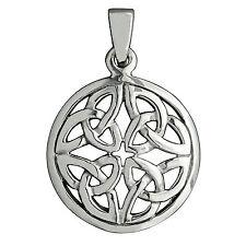 5g Sterling Silver 925 Celtic Knot Triskele TrinityTriquetra BELDIAMO Pendant-S