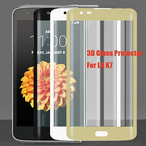 3D Edge Full Curved Coverage Tempered Glass Film Screen Protector For LG K7