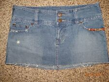 ABERCROMBIE Distressed Denim Jean Skirt Size 16 Excellent Cond FREE SHIPPING