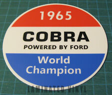 SHELBY AMERICAN INC 1965 COBRA WORLD CHAMPION VINYL STICKER DECAL - SCCA-RACING