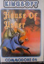 House of Usher (Kingsoft) Commodore c64 casete (box, manual, Tape) 100% ok