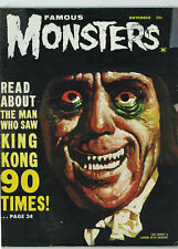 FAMOUS MONSTERS OF FILMLAND #20 3.0 1962 OFF-WHITE PAGES