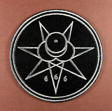 """Embroidered Crowley Seal Patch - Sew or Iron On 3"""" Liber OZ Thelema Aleister"""