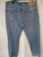 Levi's 505 100% Cotton 40 x 30 Med  Rinse Regular Fit Blue Jeans