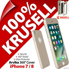 Krusell Arvika Cover 360º Slim Protection Case 9H Glass Screen Apple iPhone 7 /8