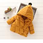 Toddler Kids Baby Girls Winter Warm Hooded Coat Jacket Thicken Outerwear