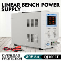 QJ3005T - Precision Variable Adjustable 30V, 5A DC Linear Power Supply Lab