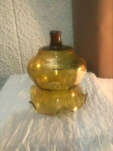 "Gold Flowered 4"" Glass wall Candle Globe"