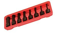 """1/2"""" DRIVE DR BLACK METRIC MM HEX KEY ALLEN WRENCH BIT SET FOR IMPACT WRENCH"""
