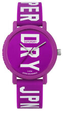 Superdry Campus Block Women's Watch syl196vw Analogue Silicone Purple