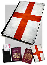 Passport Holder English Flag Printed Faux Leather Cover Case England UK Britain