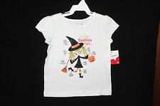 3T Girls Jumping Beans Halloween White Witch Fashion Tips SS T-Shirt (NWT)