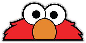 Elmo Eyes Cartoon Sticker Bumper Decal - ''SIZES''