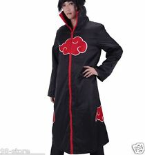Halloween Brand new Naruto Itachi Uchiha Deluxe Cosplay Costume Black Size L