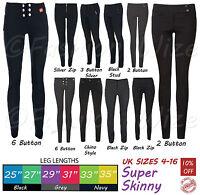 Girls Black Grey School Trousers Sizes 4-16 Miss Sexies Miss Chief Super Skinny