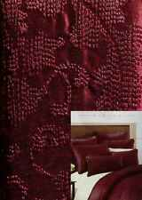 Madison Bordeaux Red Embroidered Euro Pillow Sham Bedding New