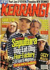 Max Cavalera and Burton C Bell on Kerrang Cover 1996  Jerry Cantrell Sean Kinney