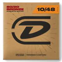 Dunlop DAB1048 80/20 Bronze Acoustic Guitar Strings 6-String Extra Light 10-48