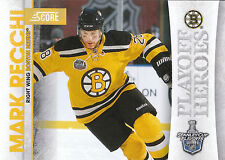 10/11 SCORE PLAYOFF HEROES STANLEY CUP #21 MARK RECCHI BRUINS *9023