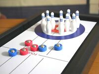 3 In 1 Tabletop Multi Game Bowling Shuffleboard Curling Novelty Gift Desk Family