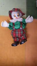 "Porcelain Clown Heads Hands Feet Porcelain Figurine 6"" Tall"