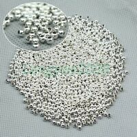 1000 Pcs Round Metal Ball Spacer Beads DIY Jewelry Making Findings 6 Colors