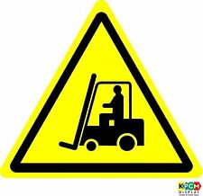 Iso Safety Label Sign - International Warning, Fork lift trucks and other
