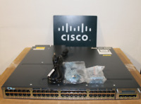 Cisco WS-C3750X-48PF-S 48-Port Gigabit IP Base Switch w/2x C3KX-PWR-1100WAC DUAL
