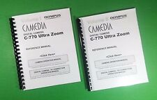 LASER Printed Olympus C-770 Camera Ultra Zoom Camera 266 Page Owners Manual