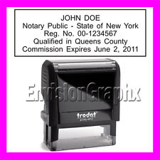 Custom Official NOTARY PUBLIC NEW YORK Self Inking Rubber Stamp T4913 black