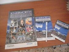 KNEBWORTH-CARTELLINA PROMOZIONALE ORIGINALE 1990