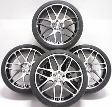"BK170 Vivaro Van 5x114 Black Polished Alloy Wheels Tyres 2554518 18""  2014 -"
