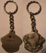 "PEWTER  ""I LOVE MY KUVASZ PEWTER KEY CHAIN""  NEW"